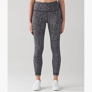 Lululemon Black Speckled Leggings